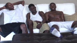 Trois afros sur canapé blanc